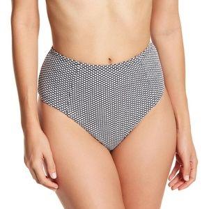 Onia Leah Textured Dot Black/White Bikini Bottom